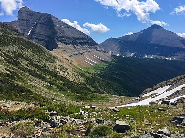 Views from the Piegan Pass hike in Glacier National Park, Montana