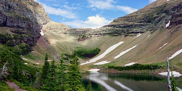 Scenery from the Ptarmigan Tunnel hike in Glacier National Park, Montana