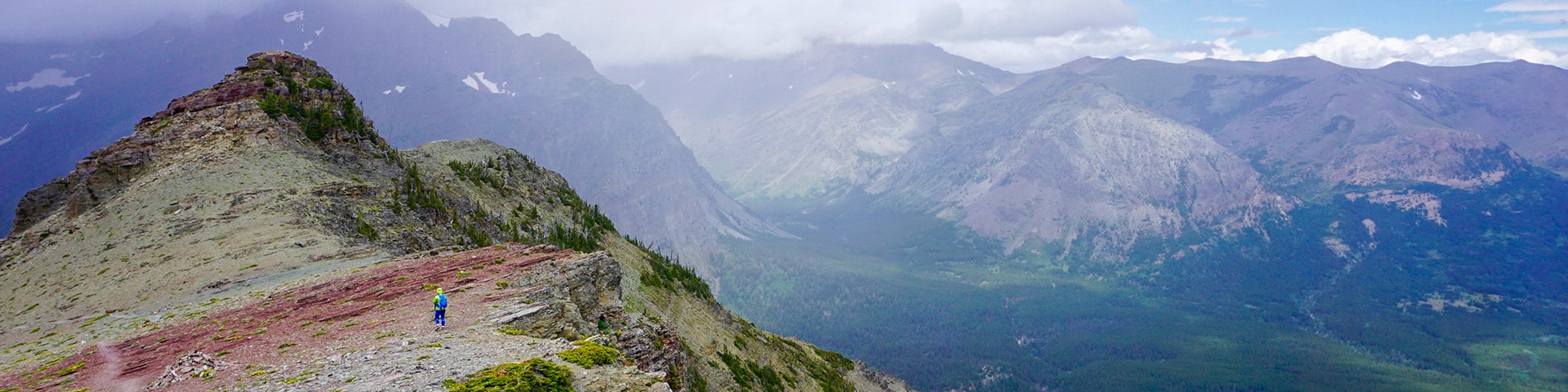 Panoramic views from the Scenic Point hike in Glacier National Park, Montana