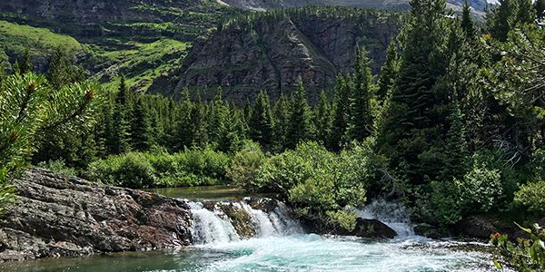 Scenery from the Swiftcurrent Pass hike in Glacier National Park, Montana