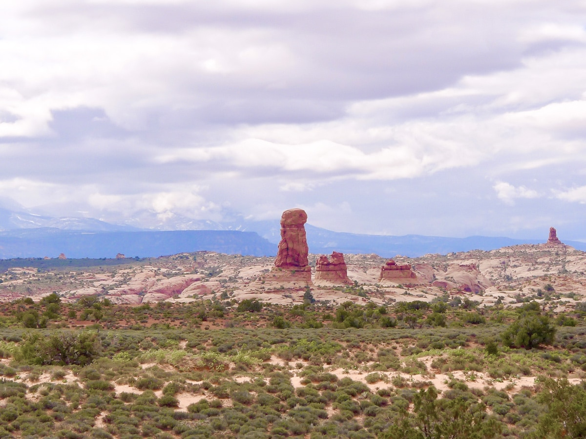 Balanced Rock hike in Arches National Park has beautiful valley views