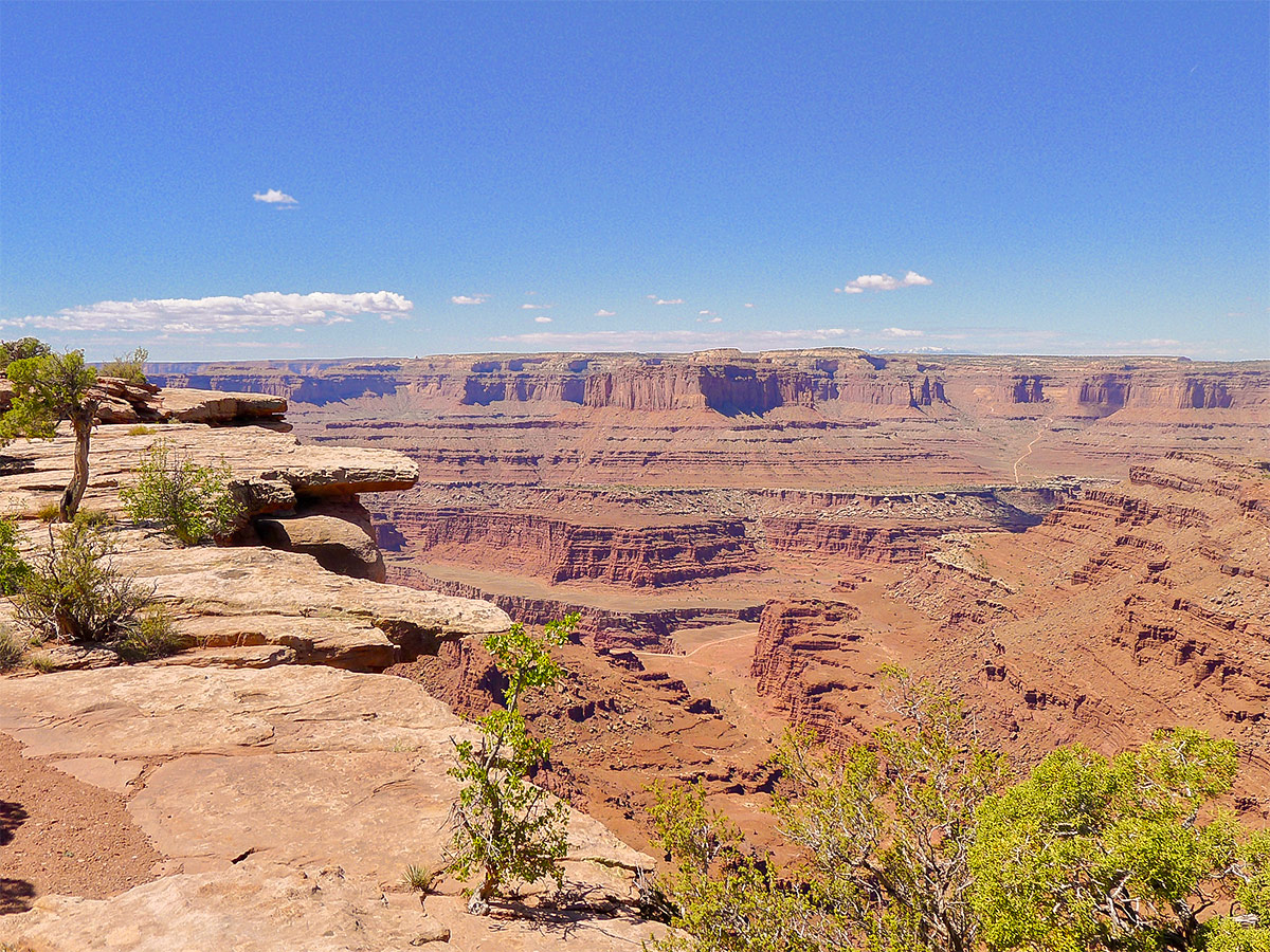 View of canyonlands from Dead Horse Point Loop hike near Moab, Utah