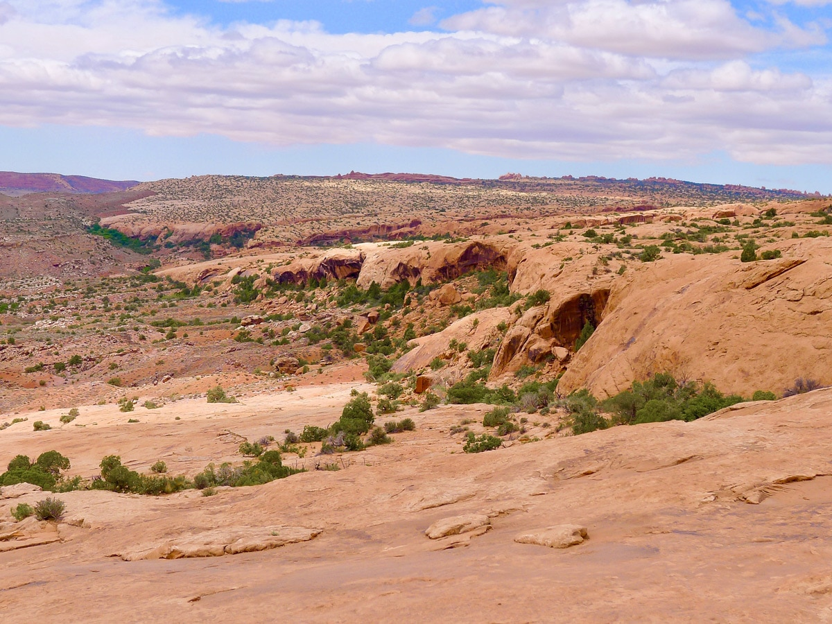 Beautiful rocks on Delicate Arch hike in Arches National Park, Utah