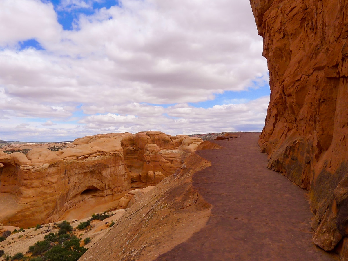 Well graded trail of Delicate Arch hike in Arches National Park, Utah