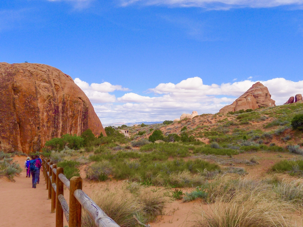 Devil's Garden trail in Arches National Park is a great hike with beautiful panoramas