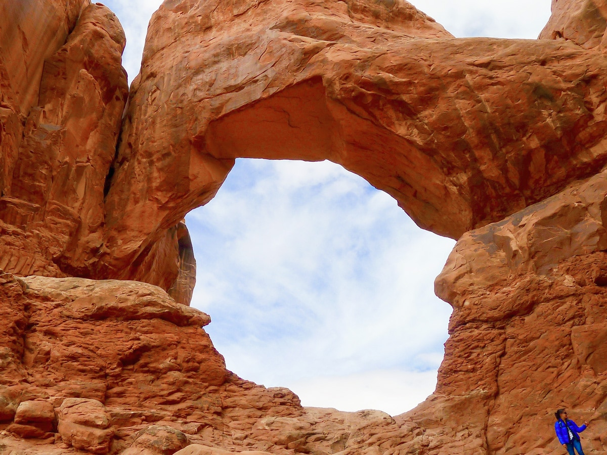 Beautiful arch on Delicate Arch hike in Arches National Park, Utah