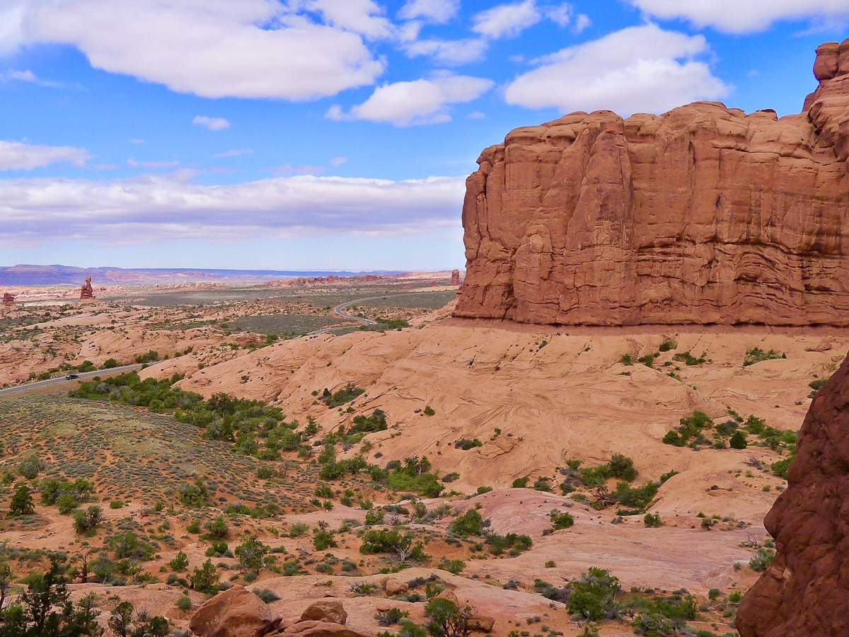 Lovely views on Delicate Arch hike in Arches National Park, Utah