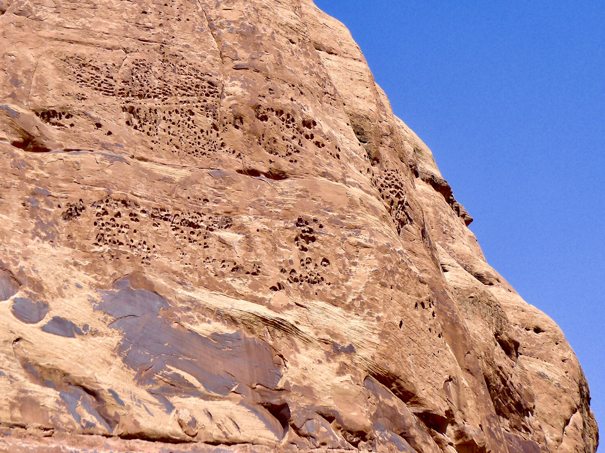 Mill Creek hike in Moab is surrounded by beautiful rock formations