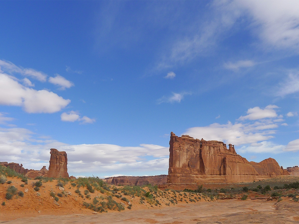 Views from Park Avenue hike in Arches National Park
