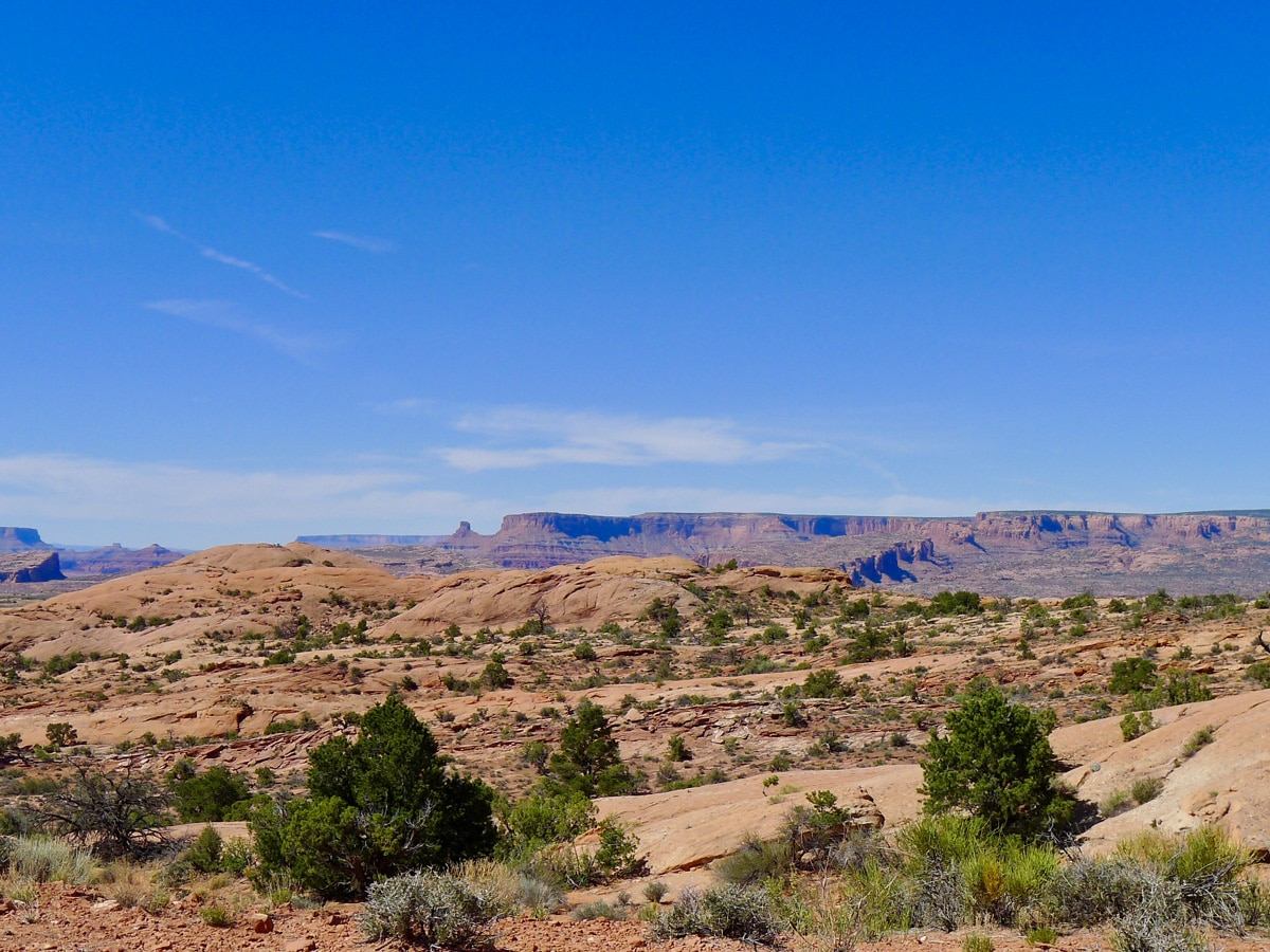 View from the top of Dead Horse Point Loop hike near Moab, Utah