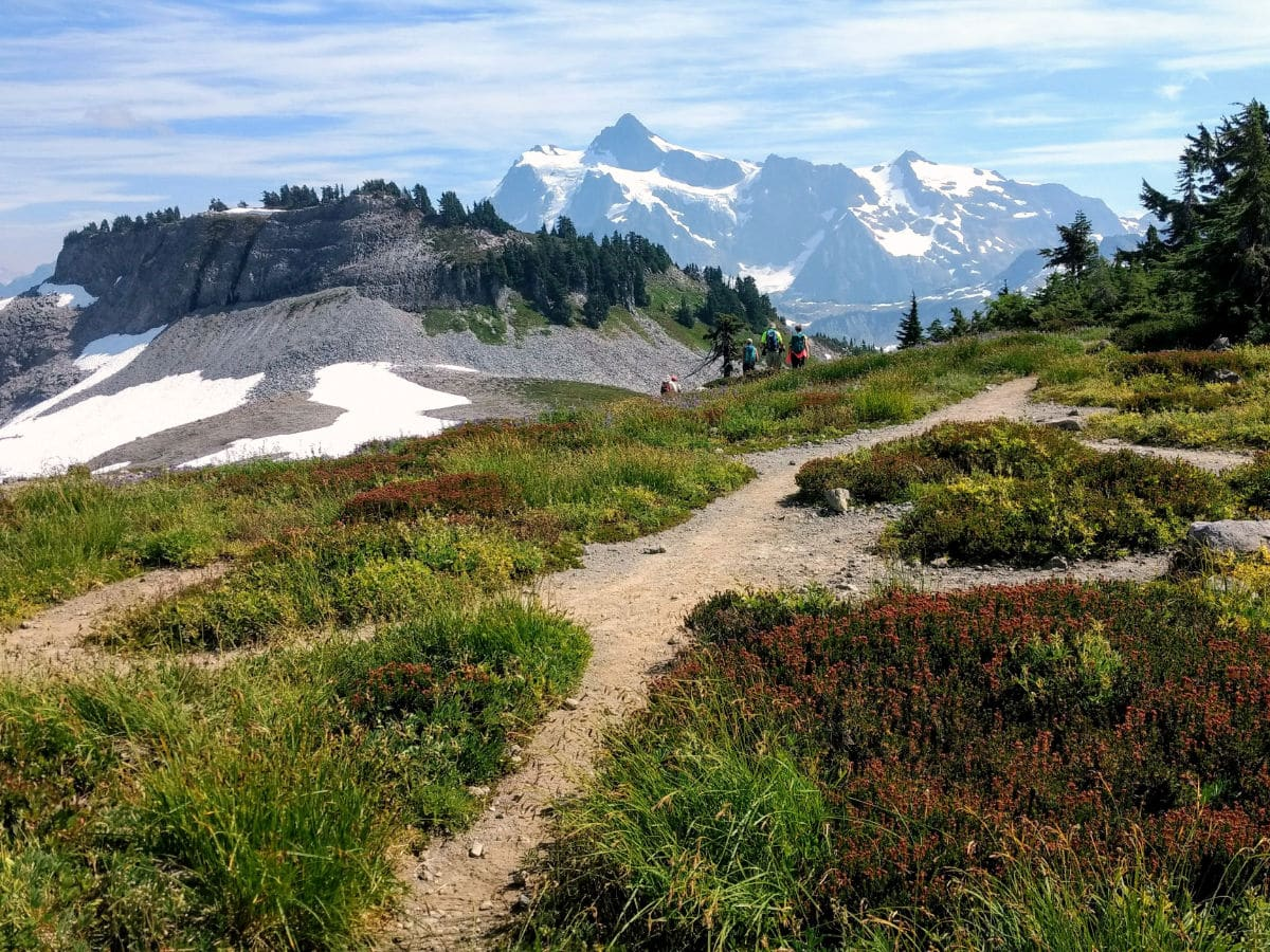 Mount Shuksan on the Yellow Ptarmigan Ridge Hike near Mt Baker, Washington