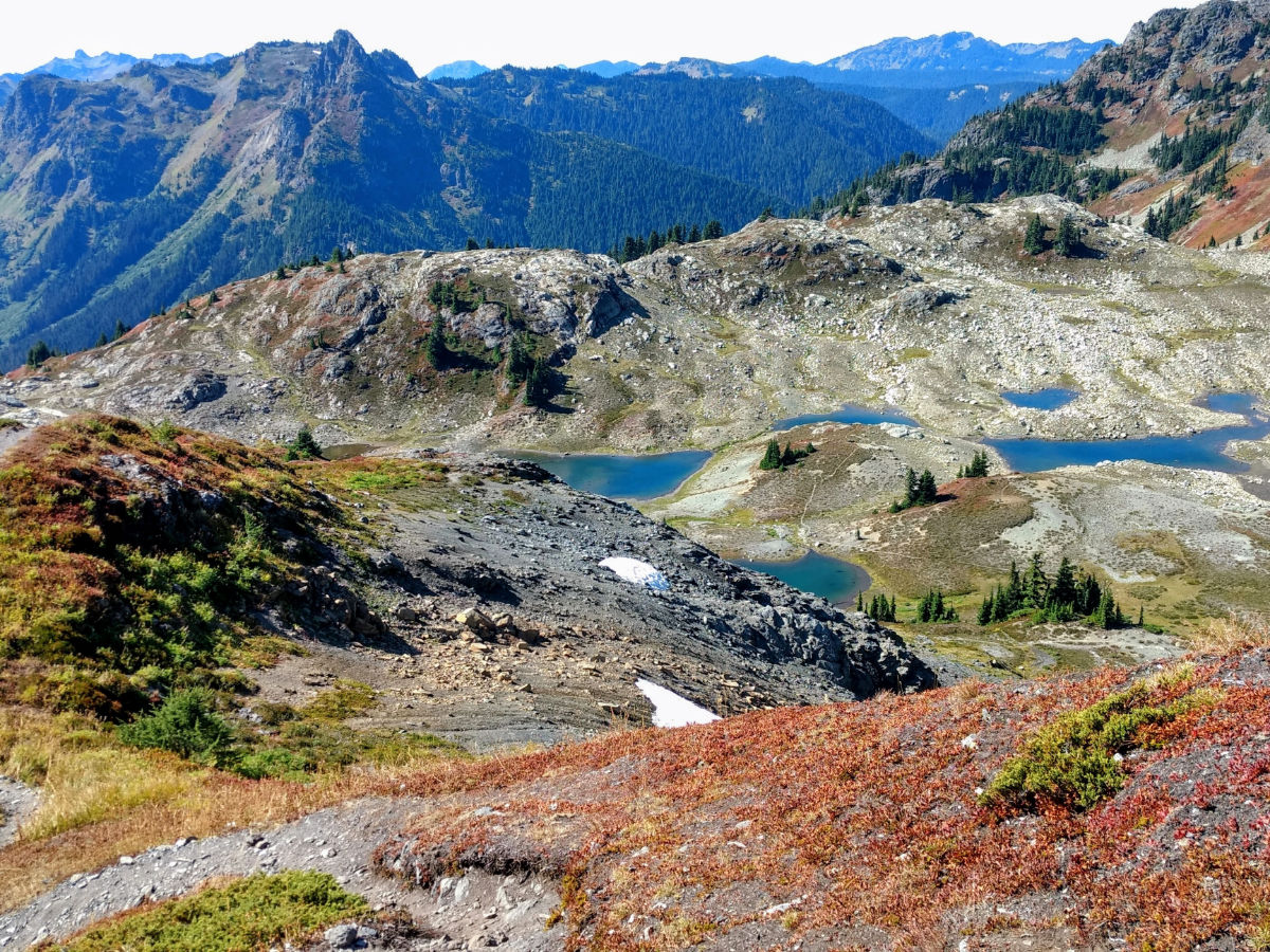 Tarns in September on the Yellow Aster Butte Hike near Mt Baker, Washington