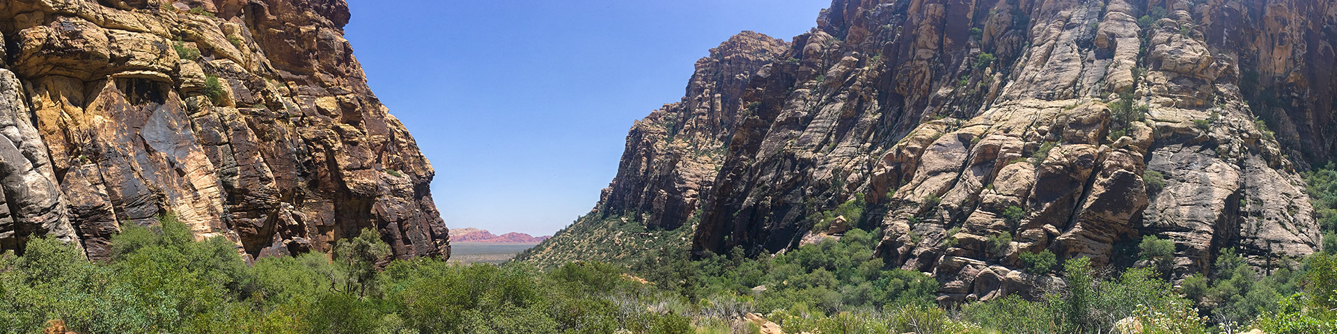 Panorama from the Icebox Canyon hike near Las Vegas, Nevada