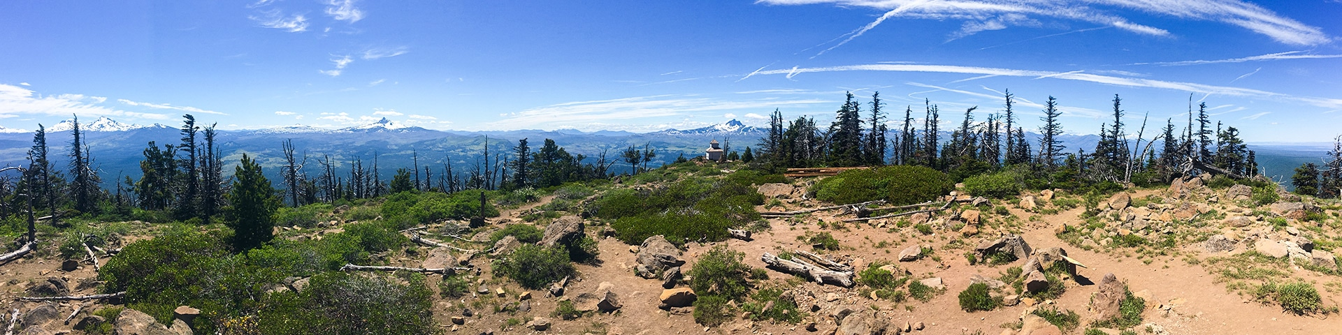 Panorama from the Black Butte hike near Bend, Oregon