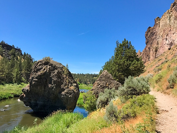 Trail of the Smith Rock's Misery Ridge Loop hike near Bend, Oregon