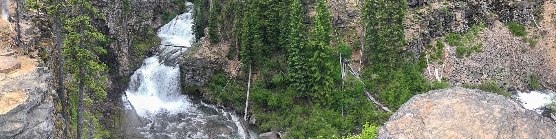 Panorama from the Tumalo Falls hike around Bend, Oregon