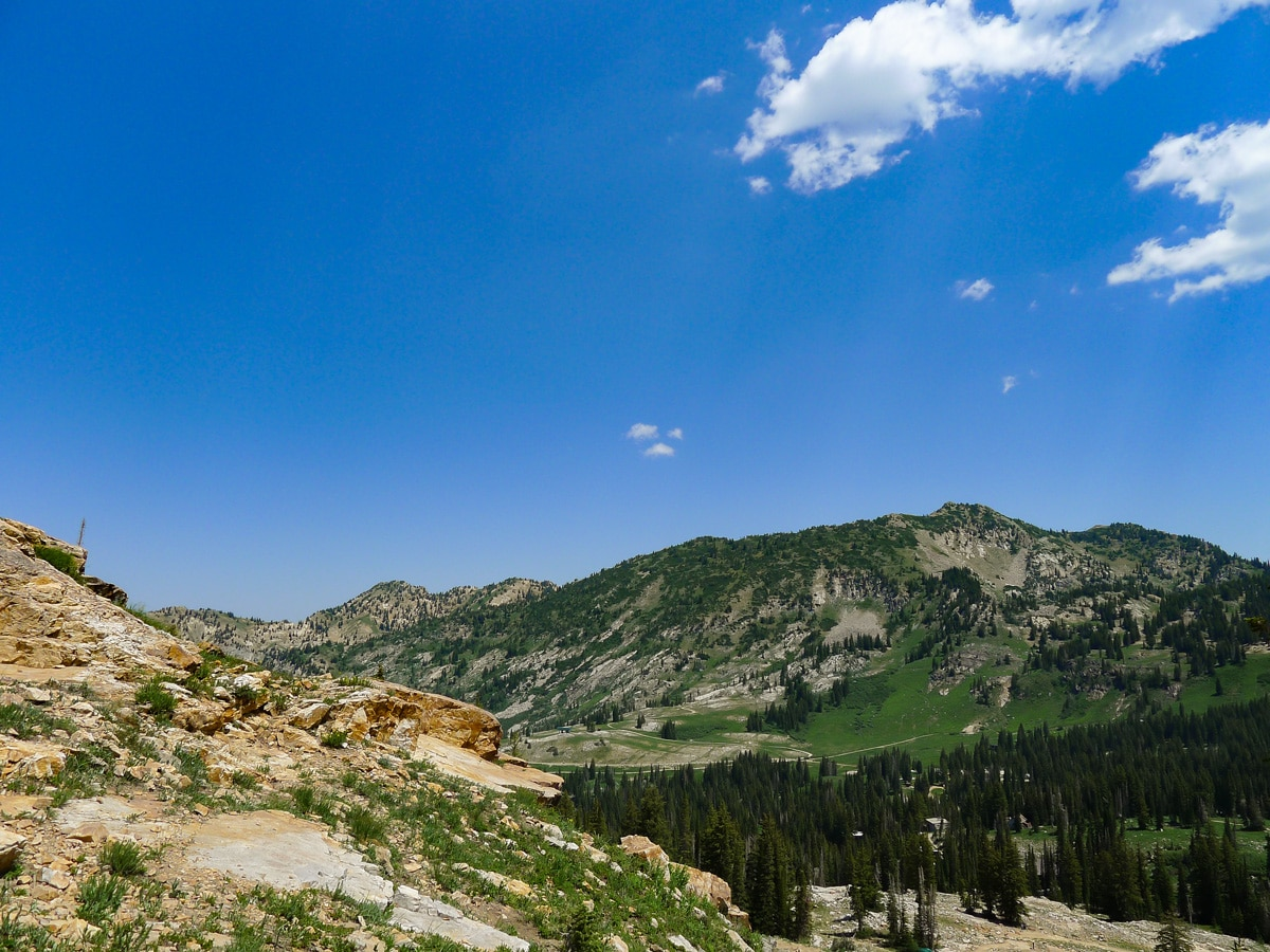 View across the valley on Cecret Lake hike in Salt Lake City