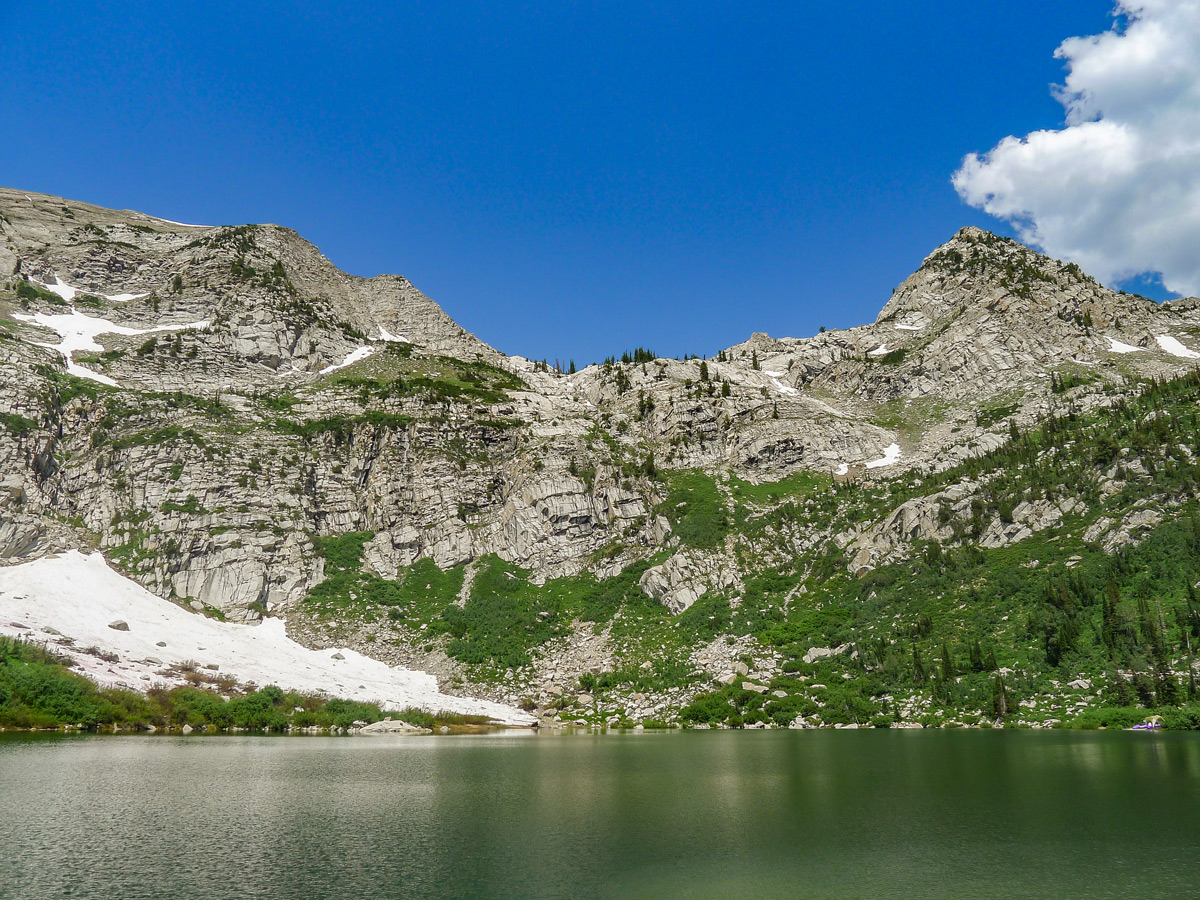 Silver Lake hike near Salt Lake City is a great trail that leads to the lake surrounded by peaks