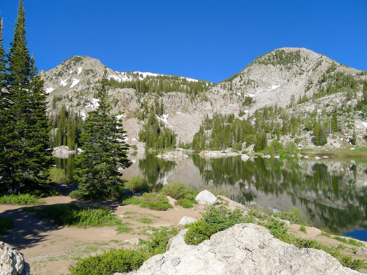 Lake Mary on Sunset Peak trail hike in Salt Lake City, Utah