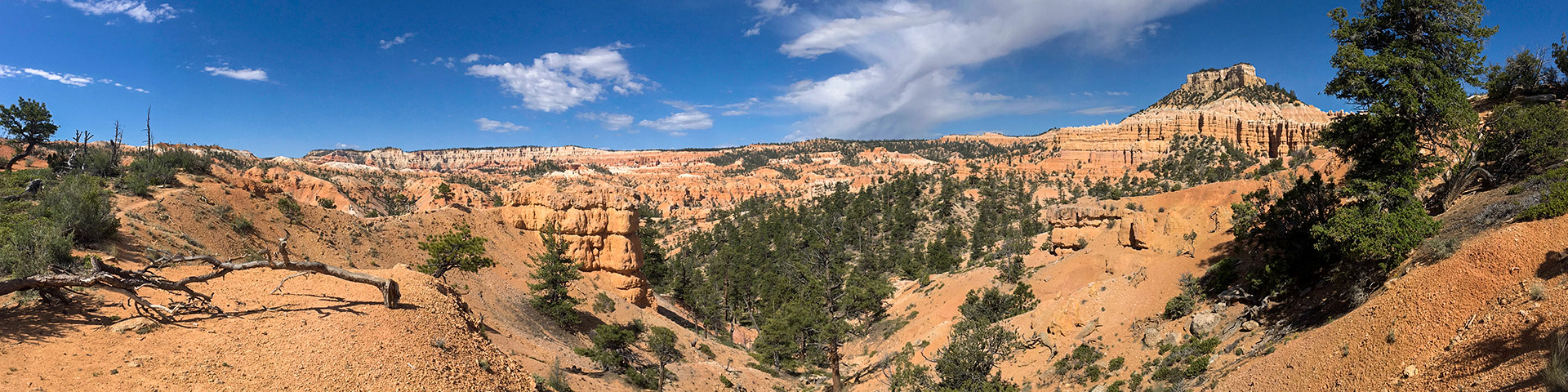 Fairyland Loop Trail hike in Bryce Canyon National Park has amazing panoramic views