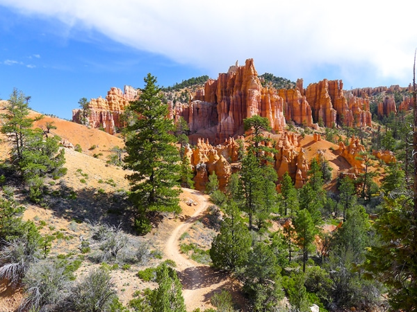 Panorama from the Fairyland Loop Trail hike in Bryce Canyon National Park, Utah