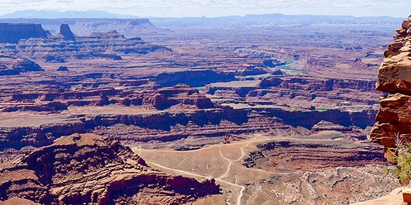 View from the Dead Horse Point hike near Moab, Utah