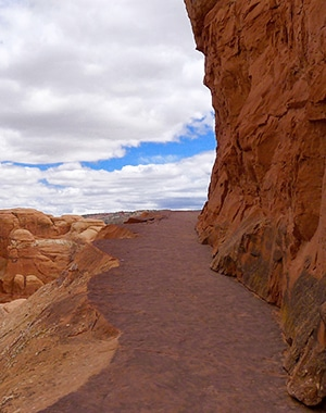 View from the Delicate Arch hike in Arches National Park, Moab