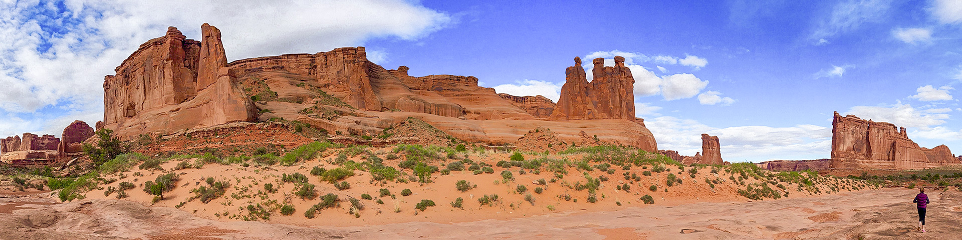 Park Avenue hike in Arches National Park, Moab