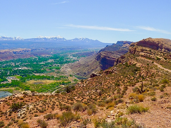 Scenery from the Portal Overlook hike near Moab, Utah