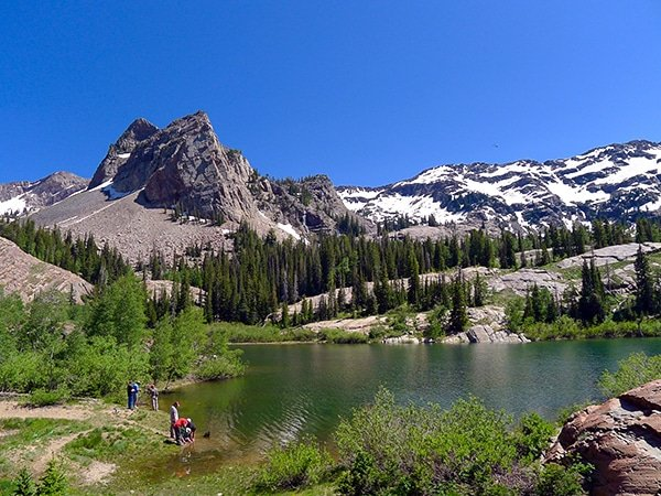 Trail of the Lake Blanche hike near Salt Lake City, Utah