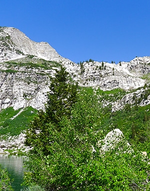 Trail of the Silver Lake hike in Salt Lake City