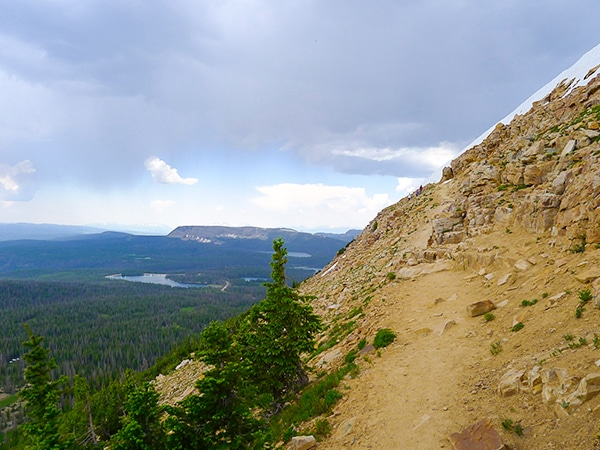 Scenery from Bald Mountain hike in the Uinta Mountains