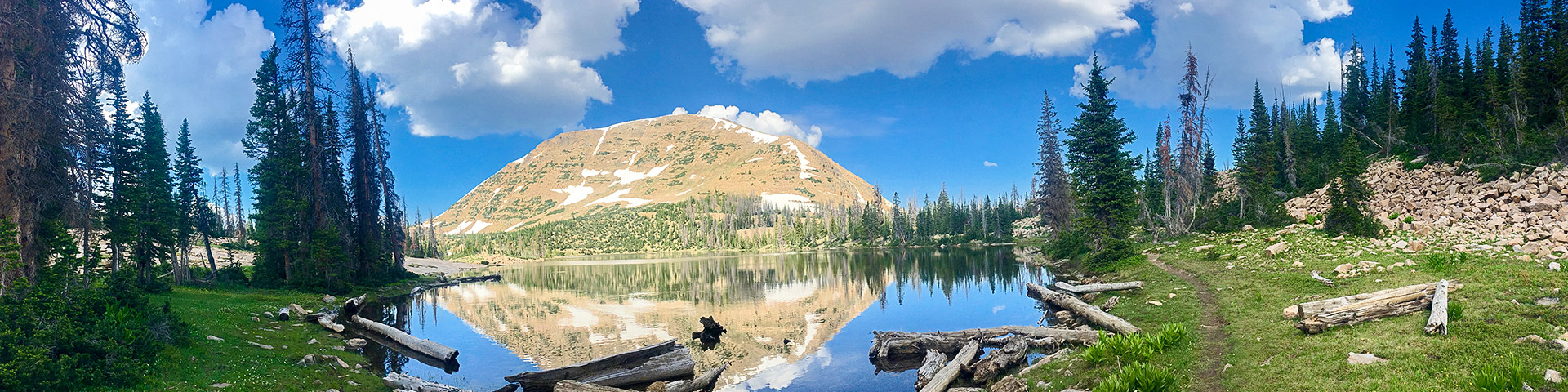 Clyde Lake hike in the Uinta Mountains