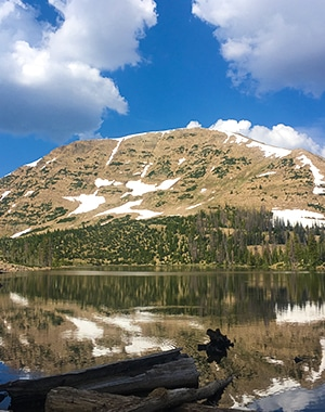 Views from the Clyde Lake hike in the Uinta Mountains