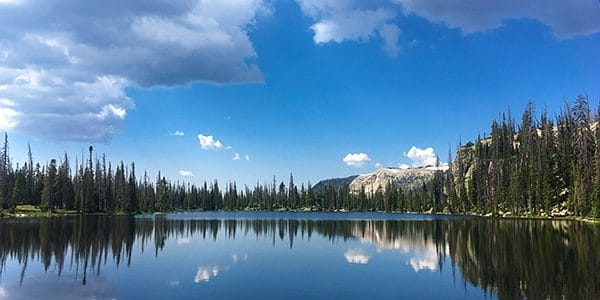 Scenery around the Clyde Lake hike in the Uinta Mountains