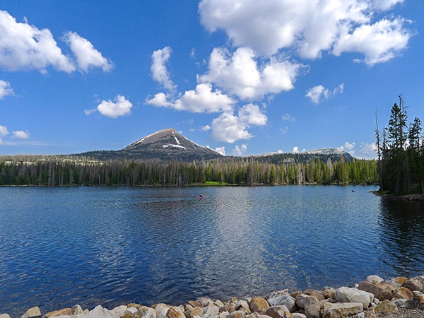 Views from the Haystack Lake hike in the Uinta Mountains, Utah