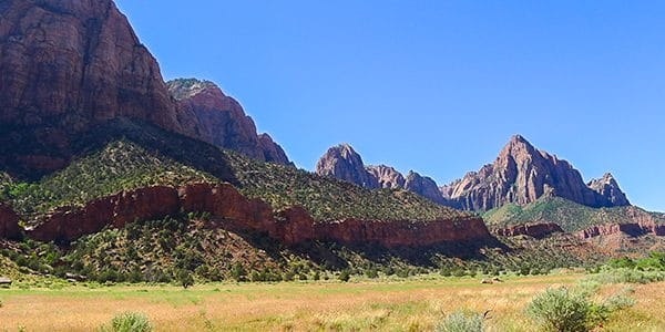 Trail of the Pa'Rus Trail hike in Zion National Park