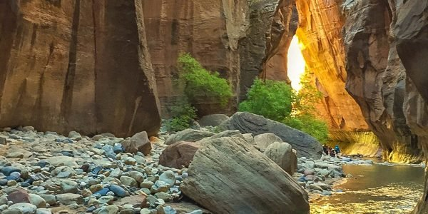 The Narrows hike in Zion National Park, Utah