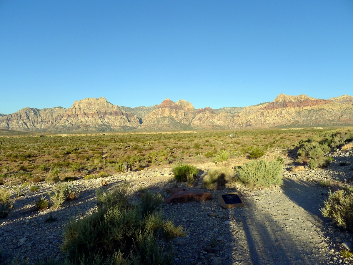 View of the mountains from the Moenkopi Trail Hike near Las Vegas
