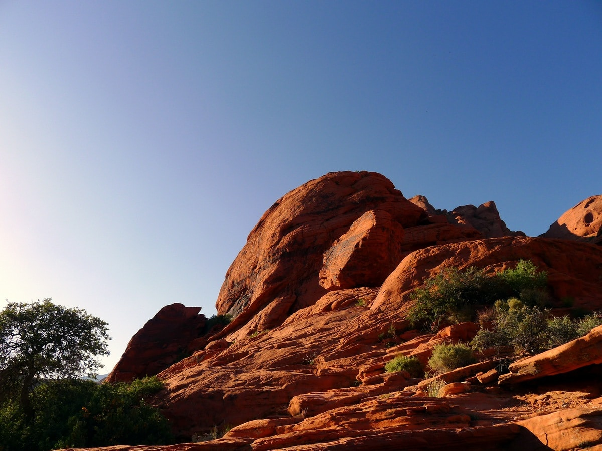Sun on the Calico Hills Loop Hike in Red Rock Canyon near Las Vegas
