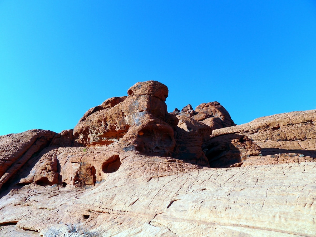 Great views on the Calico Hills Loop Hike in Red Rock Canyon near Las Vegas