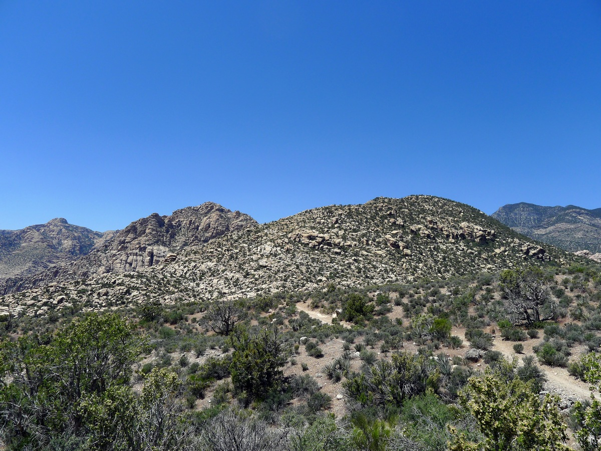 White rock hills on the White Rock Trail Hike in Red Rock Canyon near Las Vegas