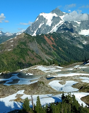 Scenery from the Table Mountain hike near Mt. Baker in Washington