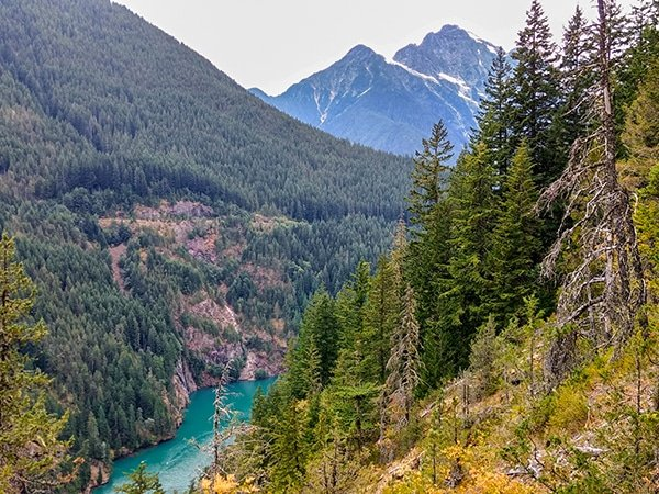 Views from the Diablo Lake Trail in North Cascades National Park