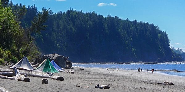 Views from the Third Beach hike in Olympic National Park, Washington