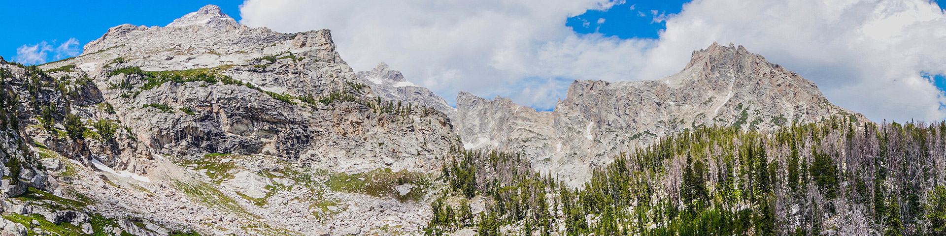 View from the Amphitheater Lake Hike in Grand Tetons
