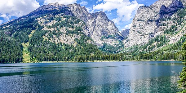 Scenery from the Phelps Lake Hike in Grand Tetons