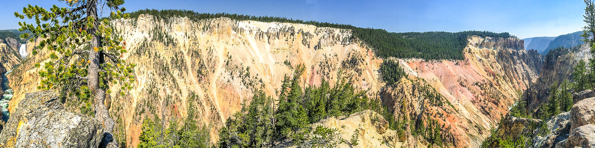 Views from the Artist Point to Point Sublime Hike in Yellowstone National Park