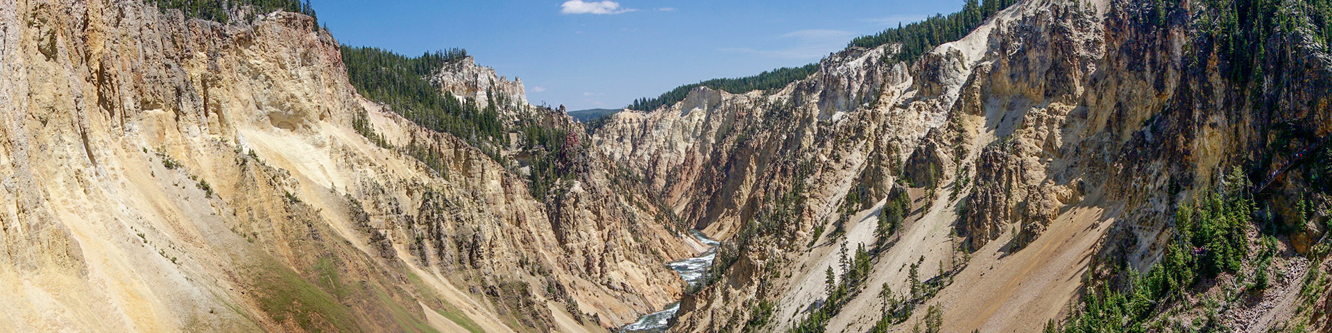 View of the Brink of the Lower Falls Hike in Yellowstone National Park