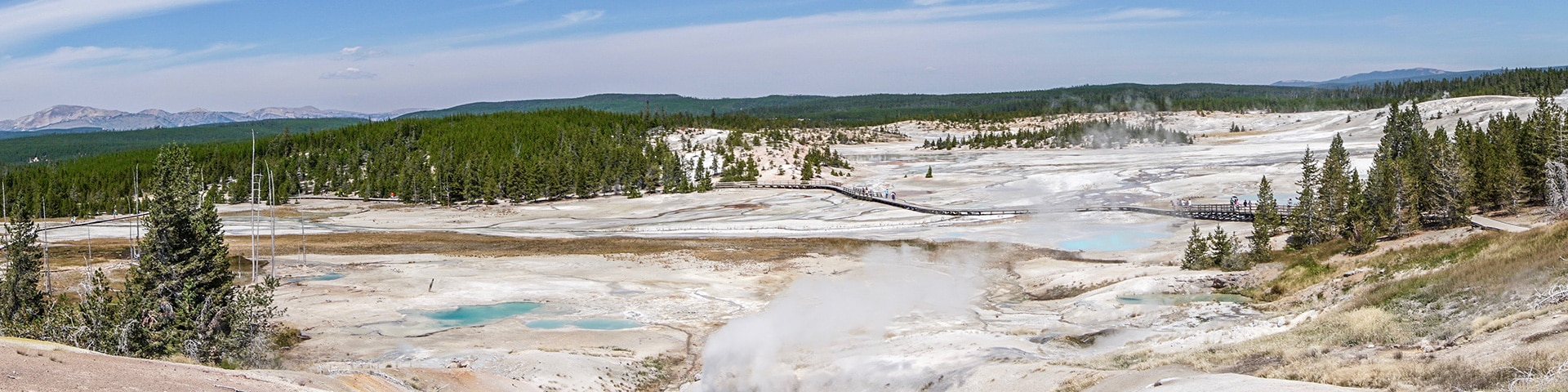 Trail of the Norris Geyser Hike in Yellowstone National Park